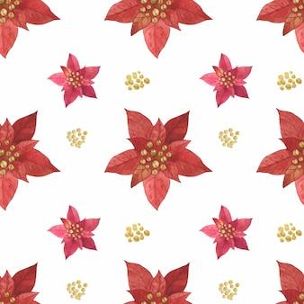 クリスマスの赤い星ポインセチアパターン