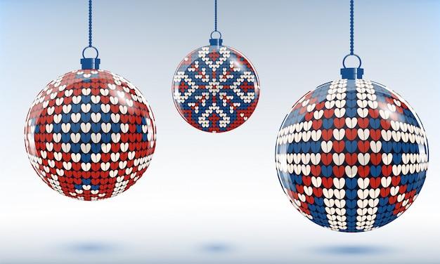 クリスマスツリーのつまらないもの、編み物の飾り