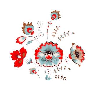 ロシアの牡丹飾り