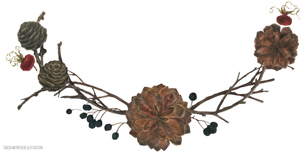 Рождество зима цветочная дуга
