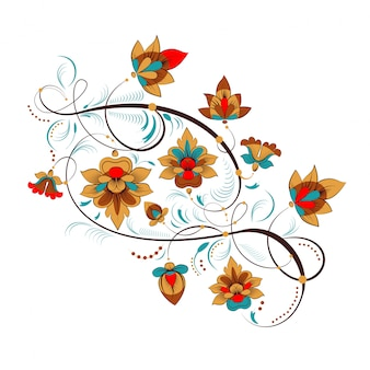 Русский цветочный орнамент