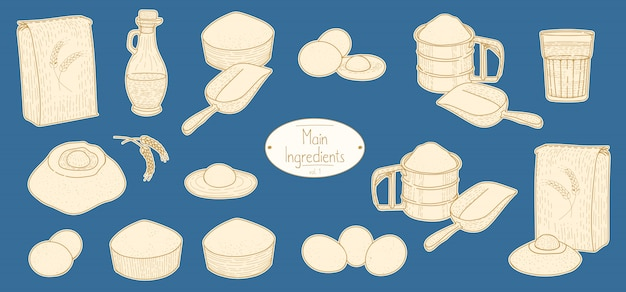 Основные ингредиенты для рецепта пасты