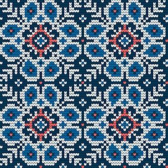醜いセーターのための伝統的な編み物パターン