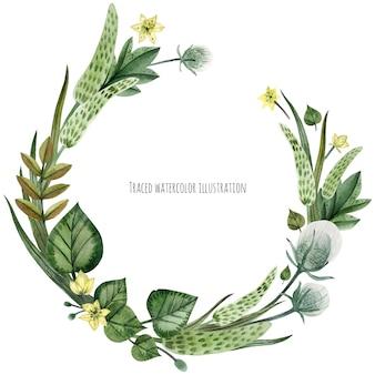 野生植物の花輪