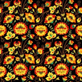 カントリースタイルのシームレス花柄