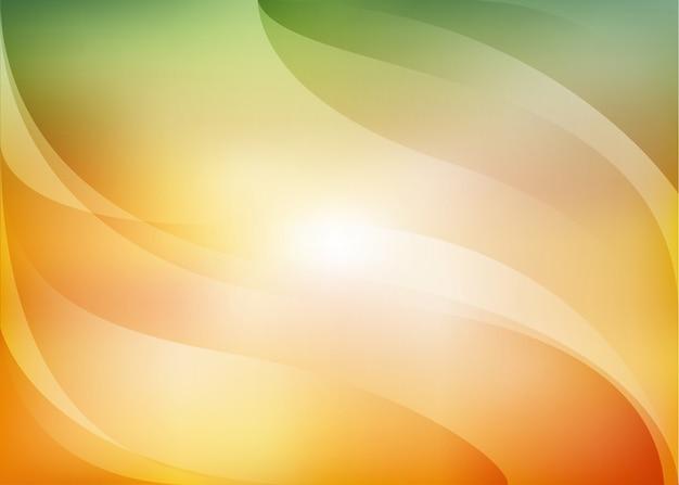 オレンジと緑の背景