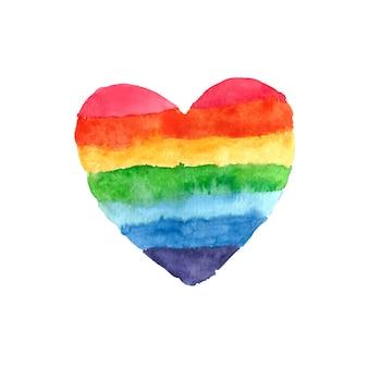 Радужное сердце