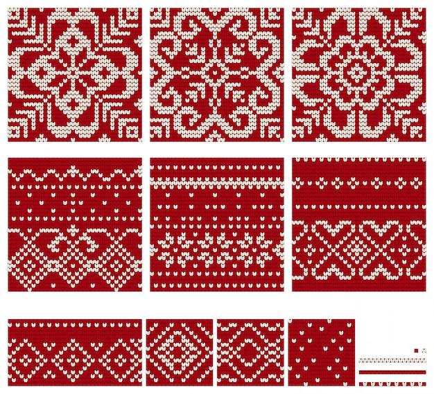 ノルウェーのスター編み物パターン