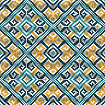 民俗伝統的な編み物のシームレスパターン