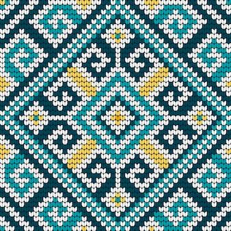 民俗の伝統的な編み物パターン