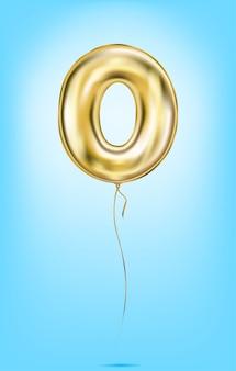 ゴールドバルーン番号の高品質のベクター画像
