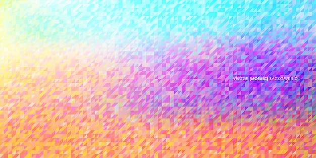 抽象的な三角形低ポリモザイクのベクトルの背景