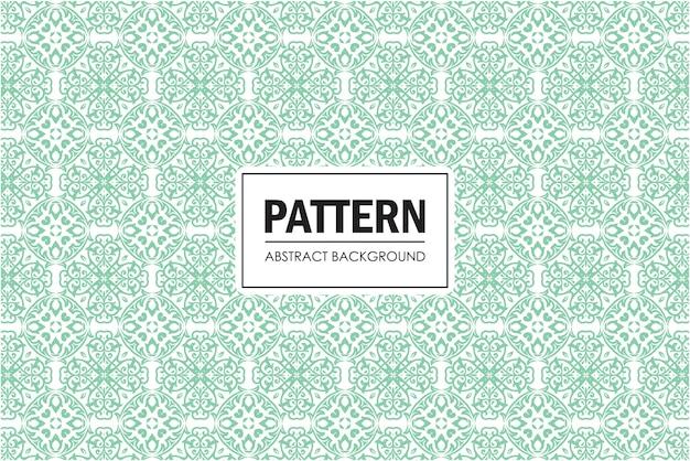 緑の色で装飾的なシームレスパターン