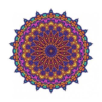 Красочный круглый абстрактный круг со стилем мандалы