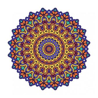 Круглый орнамент в стиле мандалы