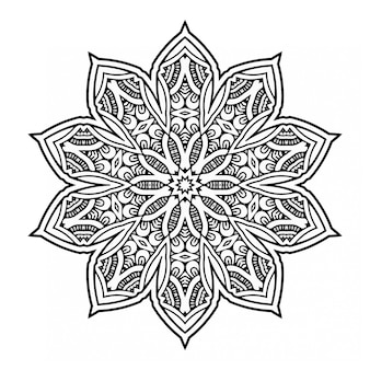 Декоративный черно-белый дизайн мандалы