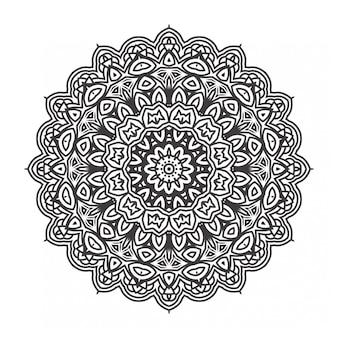 Мандалы раскраски с орнаментом стиля
