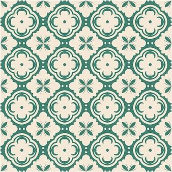 飾りとダマスク織のシームレスパターン