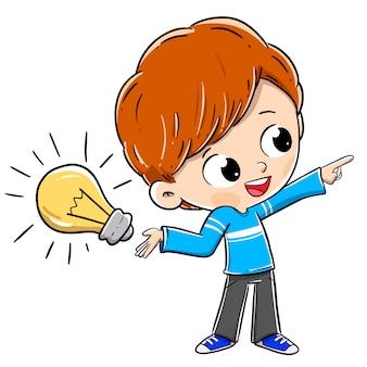 電球のアイデアを持つ人