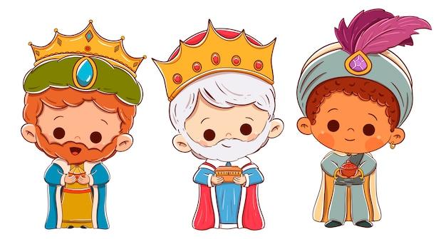 東洋の三人の王。メルヒオール、キャスパー、バルタザール
