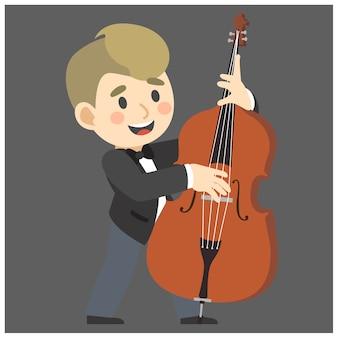 ジャズミュージシャン、ダブルベース。
