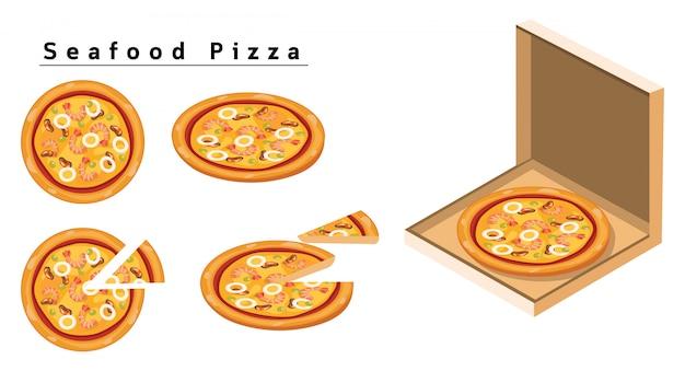 Морепродукты пицца
