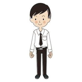 Студент университета с униформой