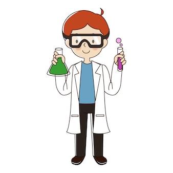科学者の男