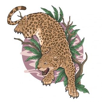 Леопард дикое животное