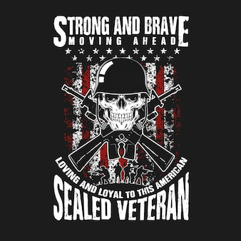 Череп и пистолет ветеран