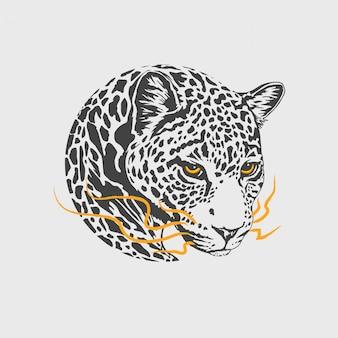 Голова леопарда