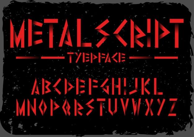 Линия векторный шрифт набор кисти, шаблон шрифта.
