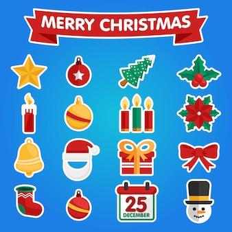 Набор милых рождественских элементов.