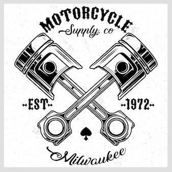 Мотоцикл поршневой векторный логотип