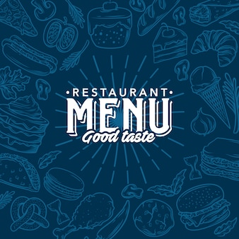 Векторного ресторан меню