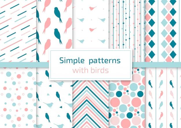 鳥との単純なパターン