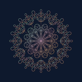 グラデーション装飾曼荼羅