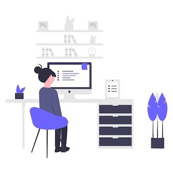 コロナのイラストデザインを避けて在宅勤務