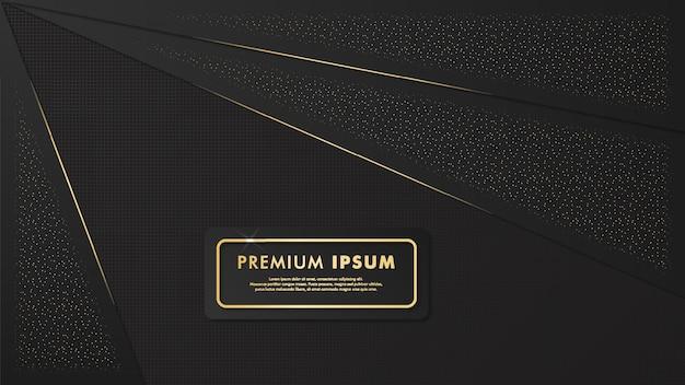 Элегантный черный и золотой фон