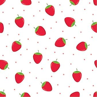 イチゴのシームレスなパターン