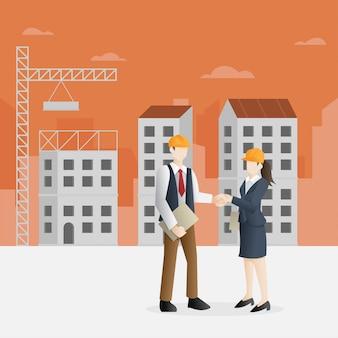 建設業における成功したパートナーシップ