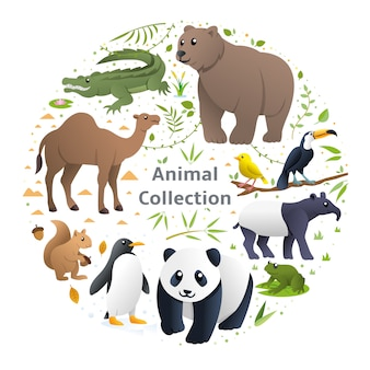動物のベクトルのセット