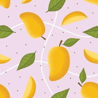Бесшовный узор из манго