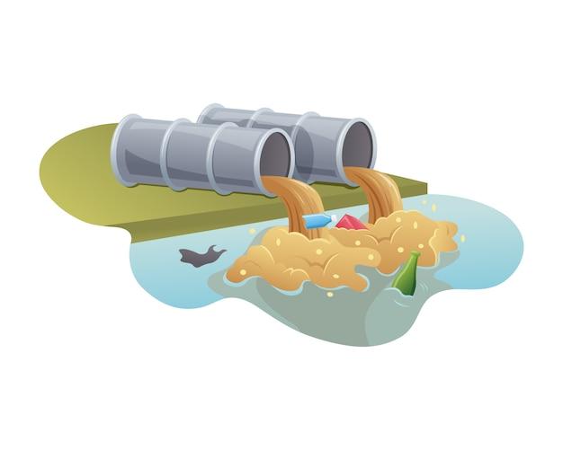 Загрязнение воды из промышленных труб