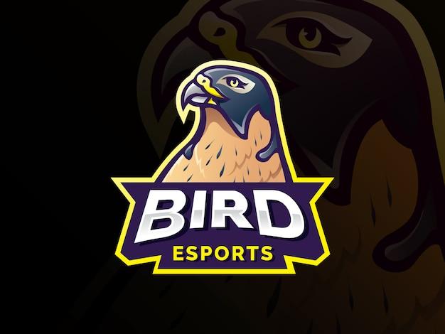 鳥のマスコットキャラクターのロゴデザイン