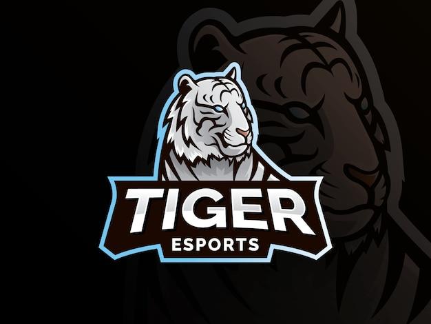 Тигр талисман спортивный дизайн логотипа