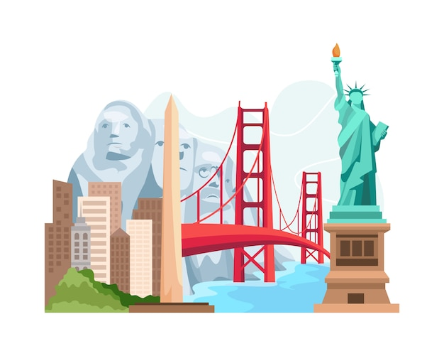 旅行とランドマークアメリカ