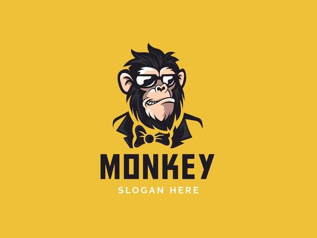Обезьяна талисман логотип
