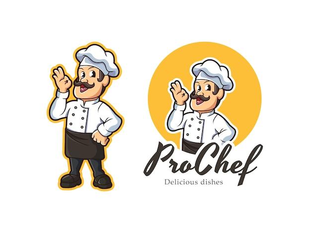 Шеф-повар талисман логотип