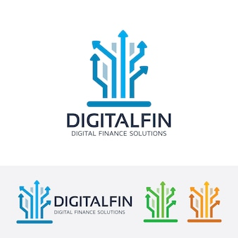 デジタルファイナンスロゴテンプレート